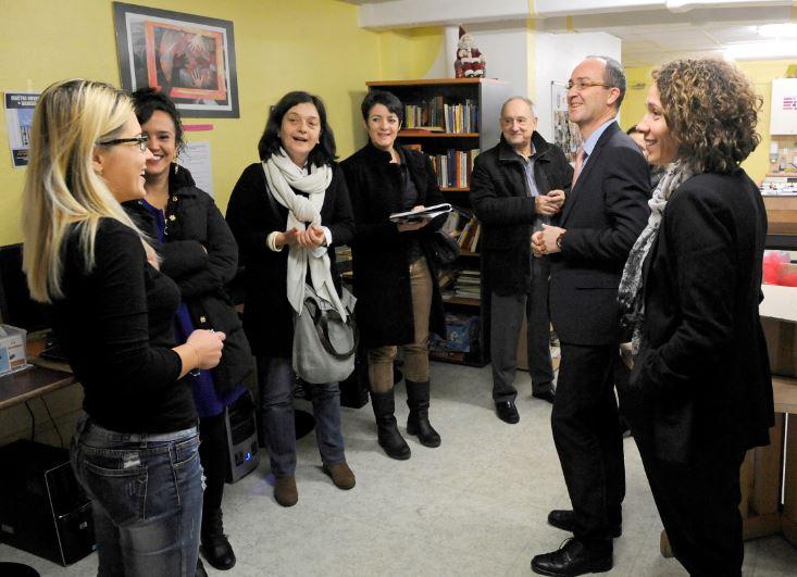 Visite des représentants de la Fondation d'Entreprise Michelin